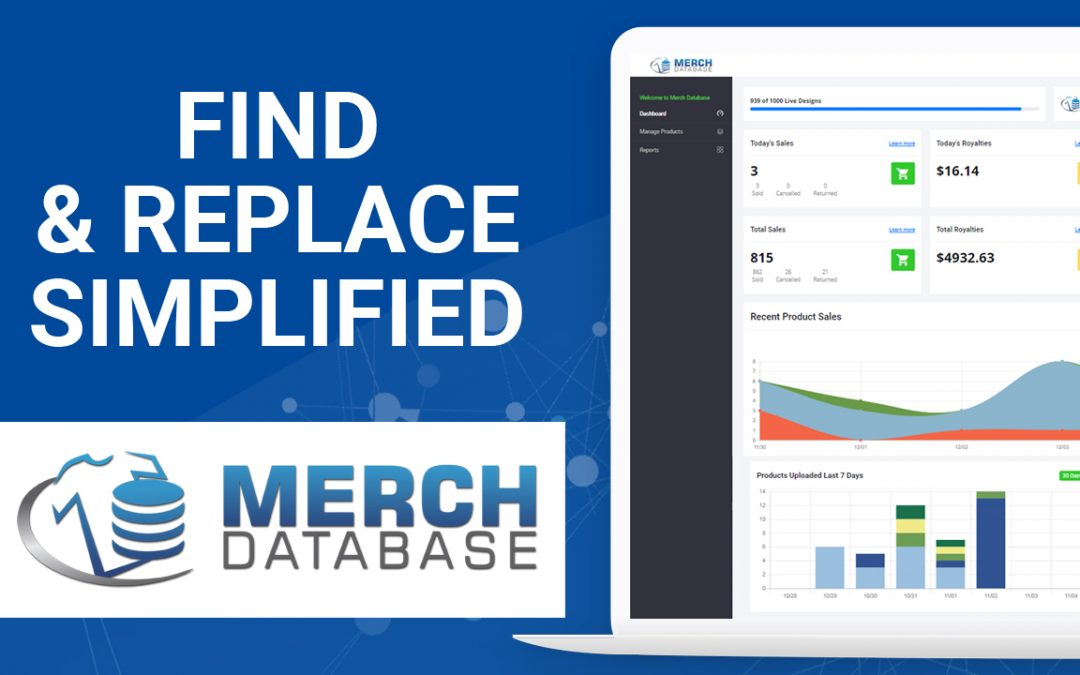 Merch by Amazon Find & Replace Simplified
